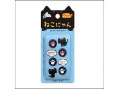 包邮 日本CYBER原装 NEW 3DS/3DSLL猫爪 摇杆帽 摇杆套4个装 现