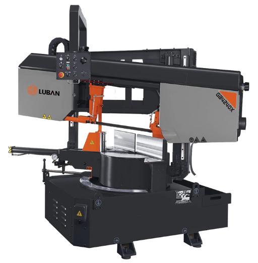 鲁班新款 GB4228X角度带锯床 用途广泛